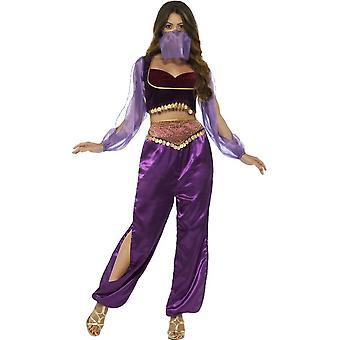 Arabian Princess Costume, Purple, with Trousers, Top & Face Veil