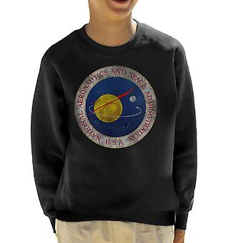 NASA Seal Insignia Distressed Kid's Sweatshirt
