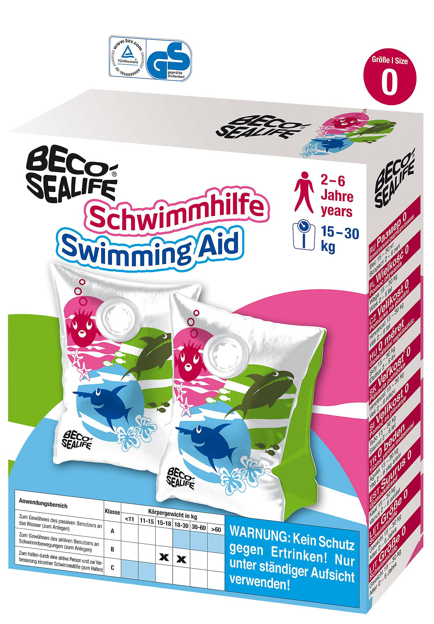 BECO Sealife Arm Bands - Groen / wit