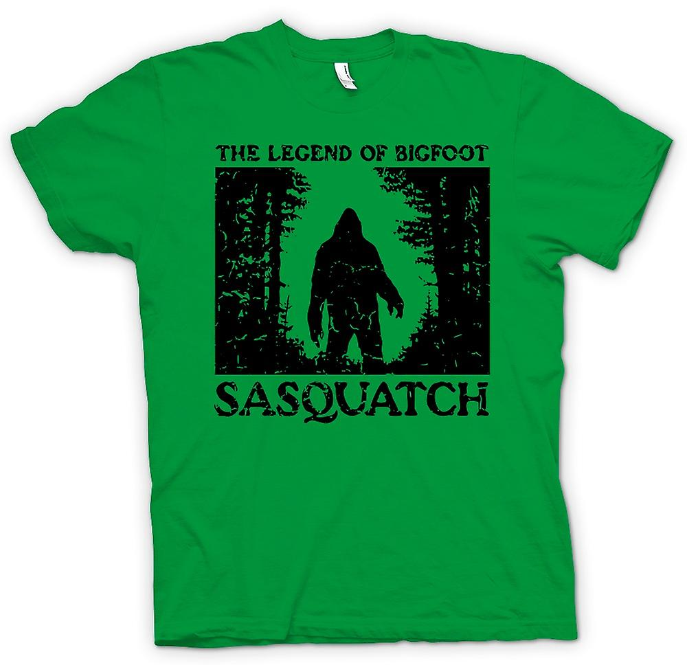 Mens T-shirt - Sasquatch Yeti Bigfoot Sighting - Cryptozoology