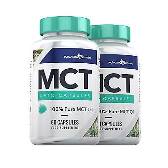 MCT Oil Keto Capsules 100% Pure MCT Oil - 120 Capsules - MCT Oil Capsules - Evolution Slimming