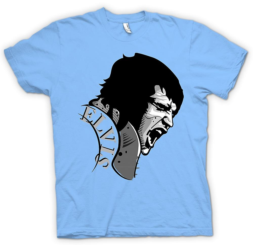 Mens T-shirt - Elvis Presley Singing - Cool