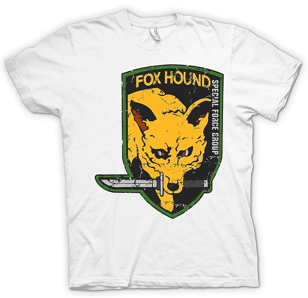 Womens T-shirt - räv hund - Special Forces Group - Gamer