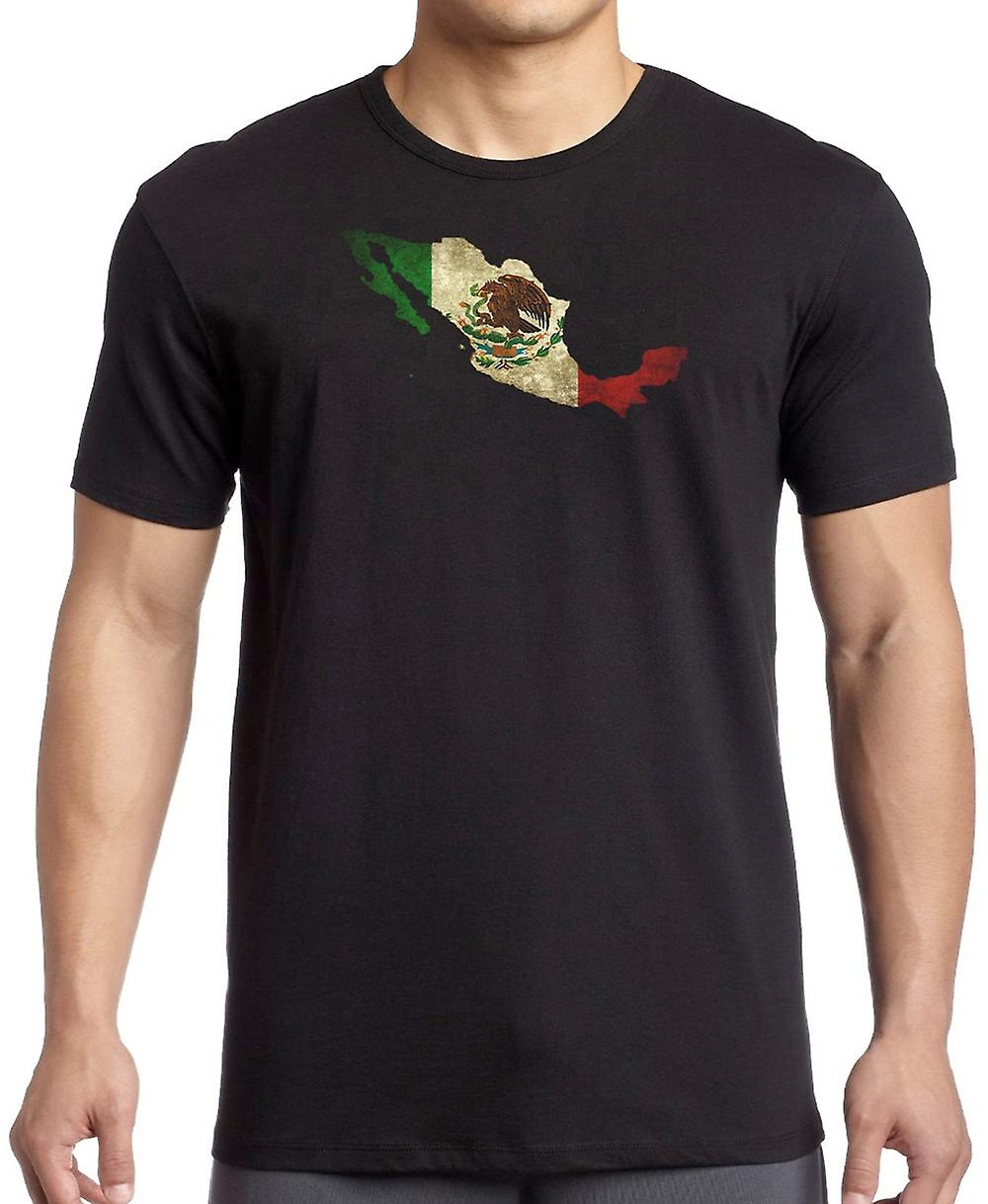 Mexico Mexican Flag Map T Shirt  - 5xl