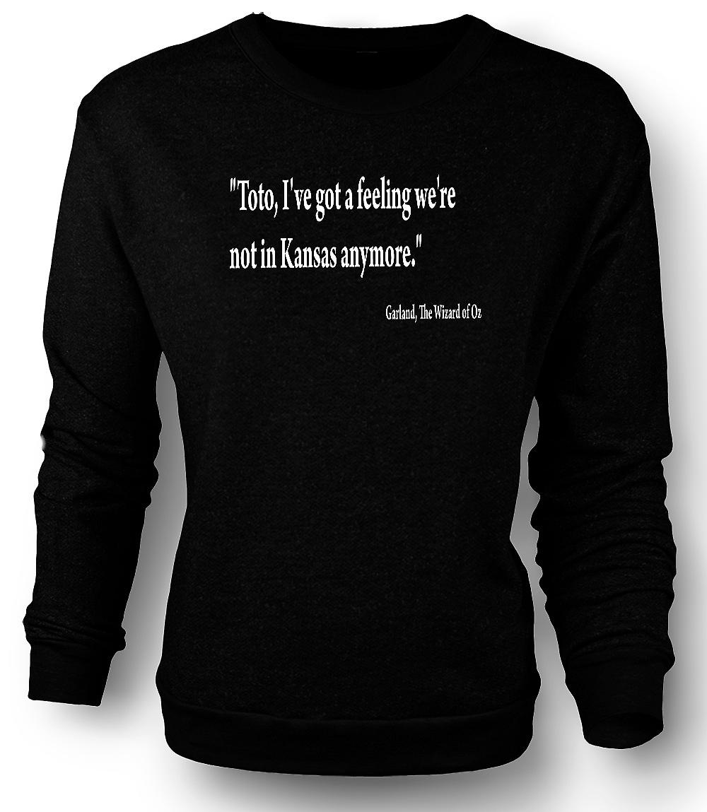Sweatshirt Mens le magicien d'Oz - cite