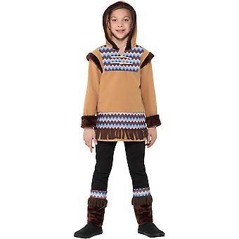 Esquimal Inuit muchacho niño traje Ártico de carnaval chico