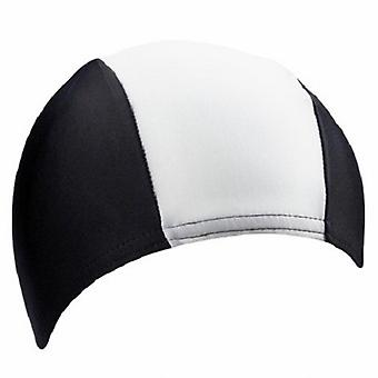 BECO 80% Polyester / 20% Elastane Fabric Adults Swim Cap-Black/White