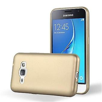 Cadorabo tilfældet for Samsung Galaxy J1 2015 sag Cover-mobiltelefon sag lavet af fleksibel TPU silikone-silikone sag beskyttende sag Ultra Slim Soft tilbage Cover sag kofanger