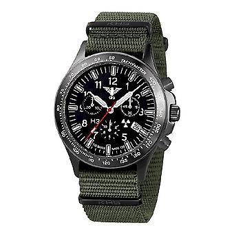 KHS watches mens watch black platoon titanium chronograph KHS. BPTC.NO
