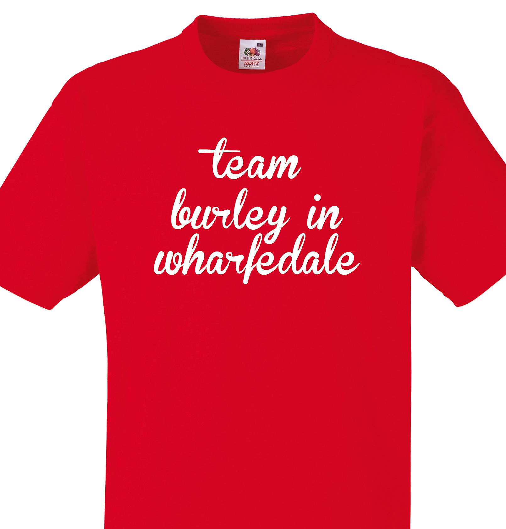 Team Burley in wharfedale Red T shirt