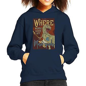 Dinosaur Music Speaks Kid's Hooded Sweatshirt
