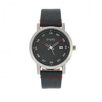Simplify The 5300 Strap Watch - Silver/Blue