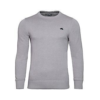 Crew Neck Cotton Cashmere Sweater - Grey Marl