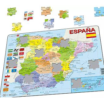 Political Map of Spain/ Espana - Frame/Board Jigsaw Puzzle 29cm x 37cm (LRS K85-ES)