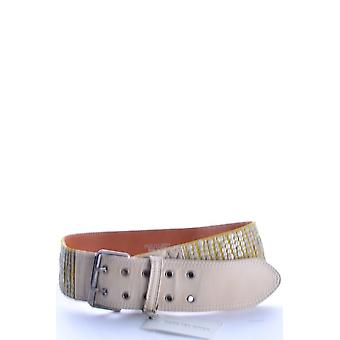 Dries Van Noten Yellow Leather Belt