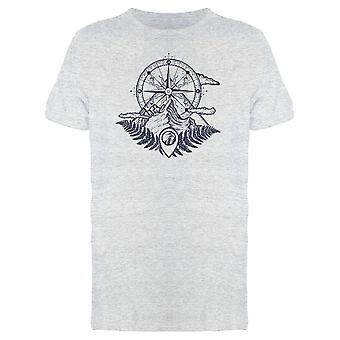 Compass And Mountain Graphic Tee Men's -Image by Shutterstock