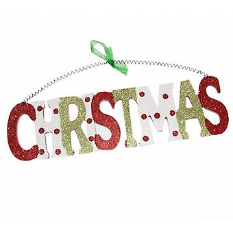 Hanging Wooden Sign Plaque Christmas Party Decoration 30 x 8 cm Christmas (XA6281MC)