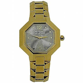 Versus Labyrinth Gold Tone Ladies Bracelet Strap Dress Watch AL16SBQ701-A070