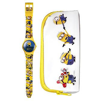 Minions Digital Watch and Case Gift Set