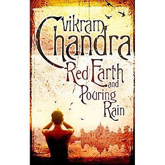 Rote Erde und strömendem Regen