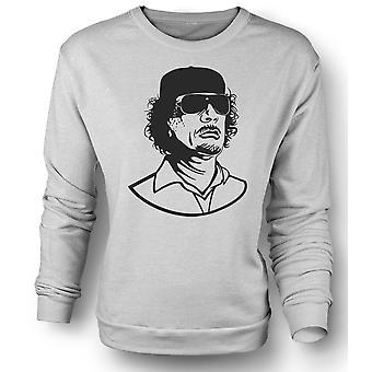 Womens Sweatshirt Gaddafi - Libyan Dictator Portrait