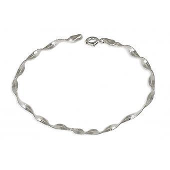 Silver Halsband mesh twist 45cm
