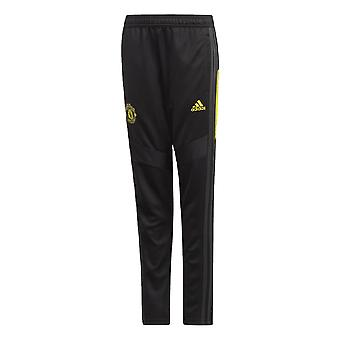 2019-2020 Man Utd Adidas training broek (zwart)-Kids