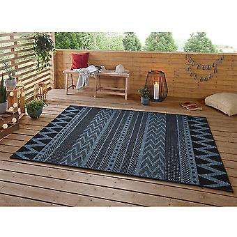 Design Indoor and Outdoor Rug Sidon Azure Anthracite