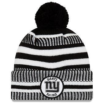 New Era Sideline Black Home Bobble Hat New York Giants