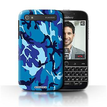 STUFF4/Housse pour Blackberry Q20/Classic/Blue 4/Camouflage Army Navy