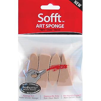 Sofft Art Sponge 4 Pkg Assorted Pp61100