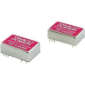 DC/DC converter (print) TracoPower 24 Vdc 15 Vdc, -15 Vdc 500 mA 15 W No. of outputs: 2 x