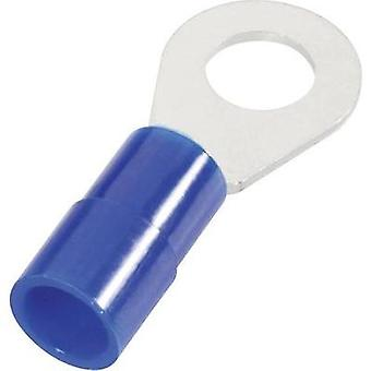 M4 Insulated Ring Terminal, Blue, 1.5 - 2.5mm², Cimco 180034