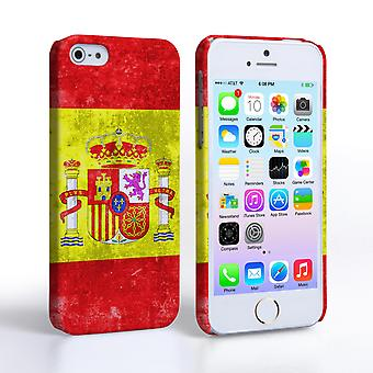 Caseflex iPhone SE Retro Spain Flag Case