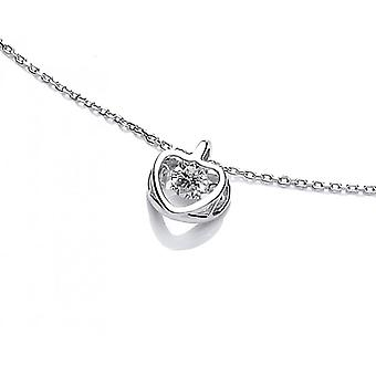 Cavendish French Dancing CZ Heart Necklace