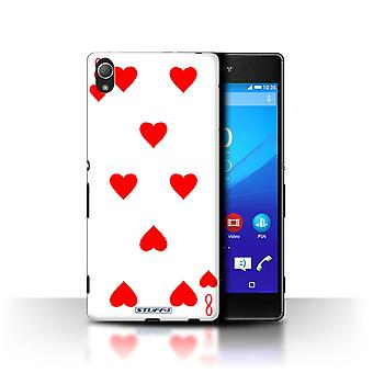 STUFF4 Case/Cover for Sony Xperia Z3+/Plus/8 of Hearts/Playing Cards