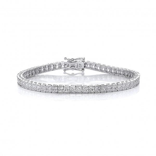 Cavendish French Small Square CZ Tennis Bracelet