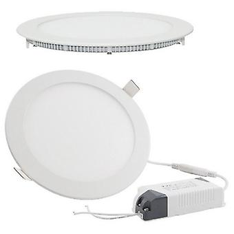 I LumoS LED 24 Watt Round Recessed Lighting Panel UltraSlim Ceiling Light Pure White