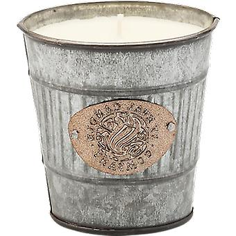 St Eval Candle Fig Leaf Large Silver Potting Shed Candle
