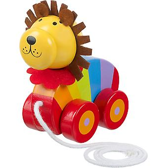 Orange Tree Toys Pull Along Lion