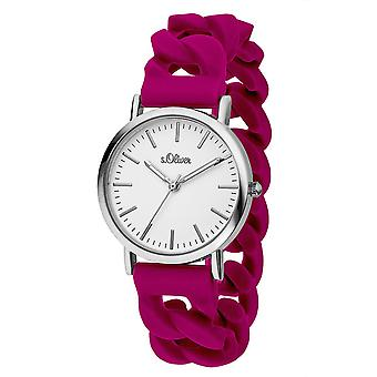 s.Oliver ladies watch wrist watch silicone SO-3260-PQ