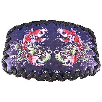 Tattoo Koi Fish Black Leather Belt Buckle Strength
