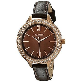 Caravelle New York Women's 44L124 Analog Display Japanese Quartz Brown Watch