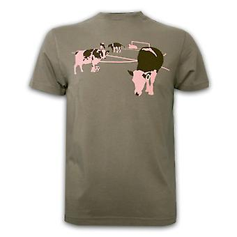 Mens FC Cow United Basic T and Armygreen 100% cotton
