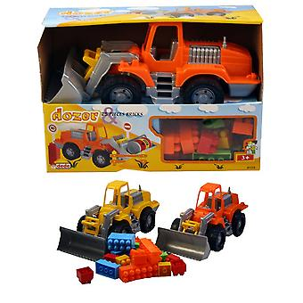 Dede Toy Dozer Digger with 25 Blocks