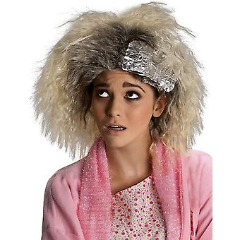 Dye Job 1980s Blonde Crimped Trailer Trash Funny Women Costume Wig