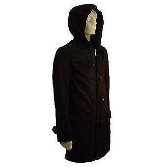 Mens Wool Mix Hooded Duffle Coat Jacket