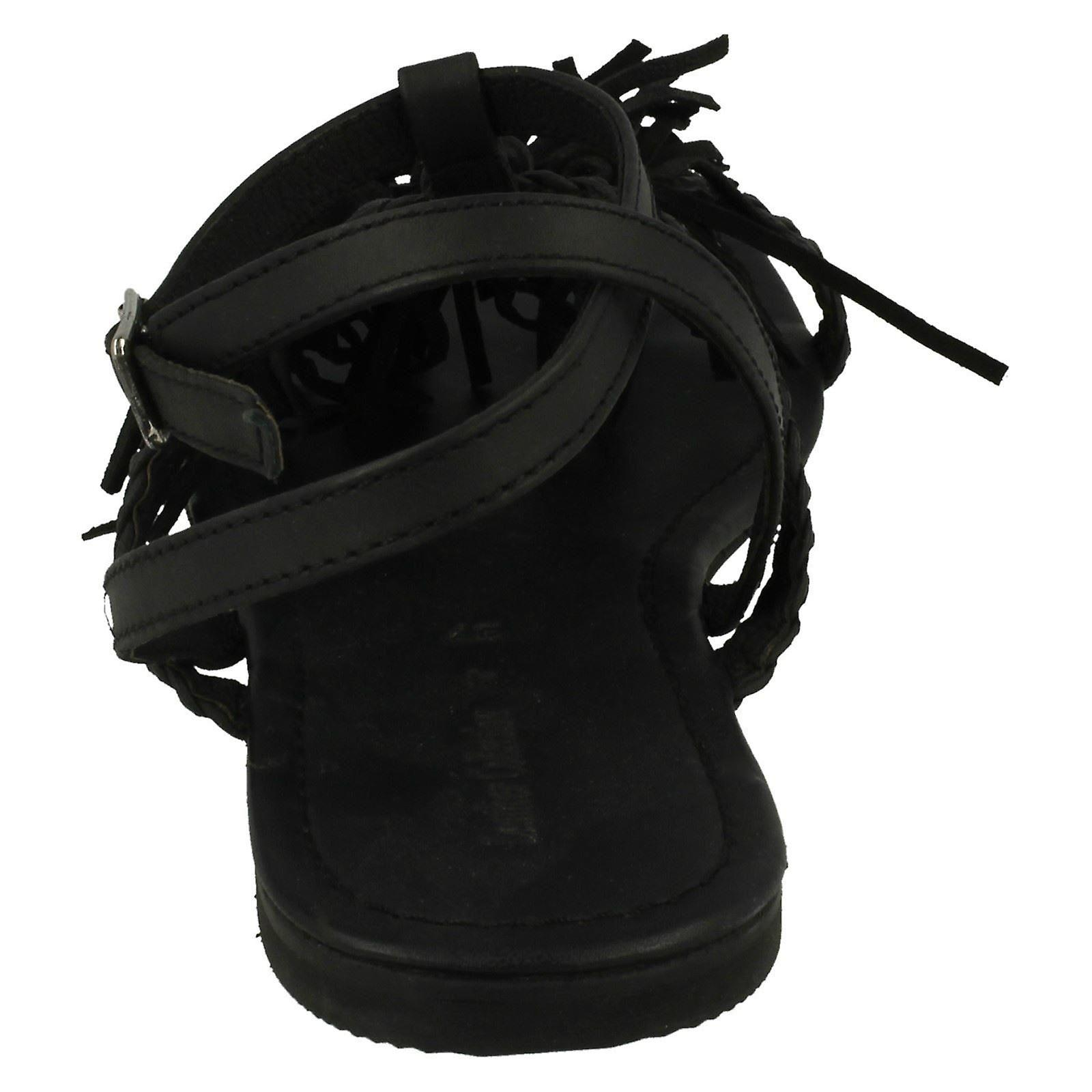 Leather Flat Tassel F0950 Collection Ladies Sandals x0wqAnvRqT