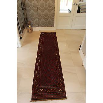 Rød håndlavede Mushvani Oriental Runner tæppe