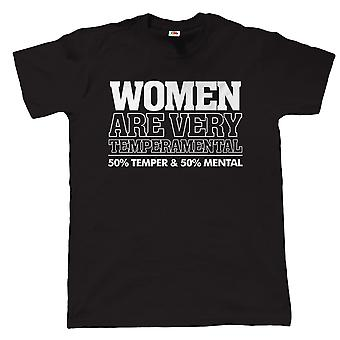 Vectorbomb, Women Are Temperamental, Mens Funny T Shirt (S to 5XL)